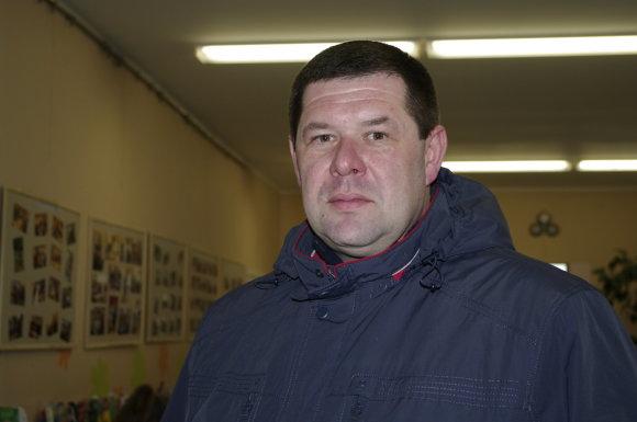 V.Danauskienės nuotr./Darbo partijos kandidatas į Alytaus rajono merus Aurimas Truncė