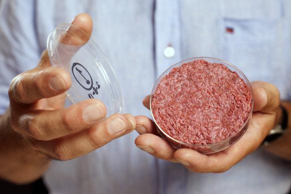 """""""Reuters""""/""""Scanpix"""" nuotr./Profesorius Markas Postas ir jo sintetinė mėsa"""