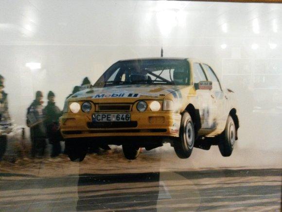Simono Kazakevičiaus archyvo nuotr./Roko Lipeikio debiutas Visagino ralyje 1996 metais