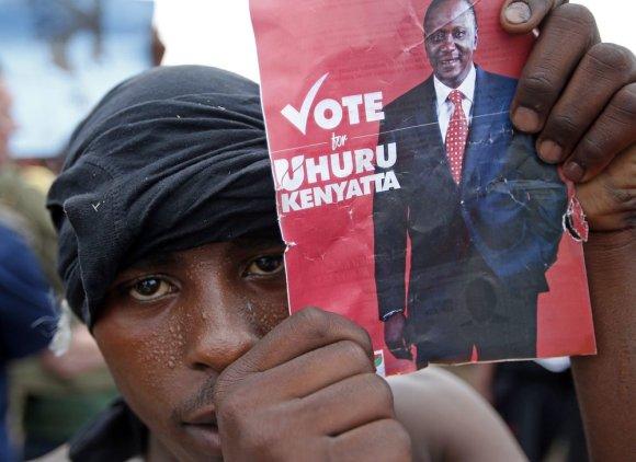 """""""Reuters""""/""""Scanpix"""" nuotr./Kenijos prezidento rinkimus laimėjo Uhuru Kenyatta"""