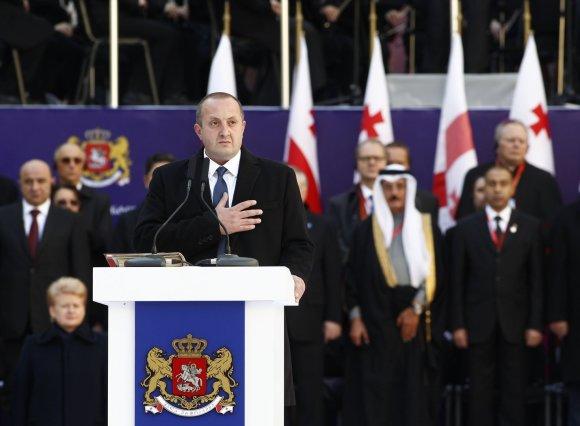"""""""Reuters""""/""""Scanpix"""" nuotr./Gruzijos Prezidento Georgijaus Margvelašvilio inauguracija"""