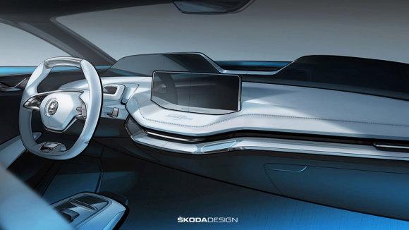 """Gamintojo nuotr./""""Škoda Vision E"""""""