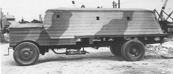 Trucker nuotr./1940–1941 m. britai gamino betoninius sunkvežimius