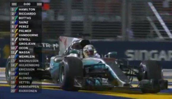 Singapūro F-1 GP rezultatas