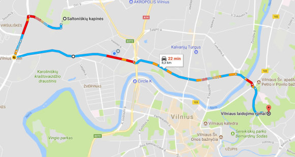 Google Maps iliustr./Vilniaus laidojimo rūmai - Saltoniškių kapinės