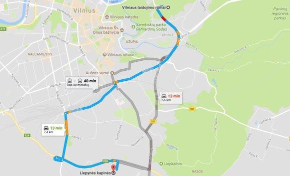 Google Maps iliustr./Vilniaus laidojimo rūmai - Liepynės kapinės
