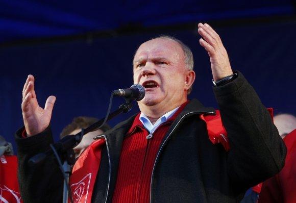 """""""Reuters""""/""""Scanpix"""" nuotr./Rusijos komunistų lyderis Genadijus Ziuganovas"""