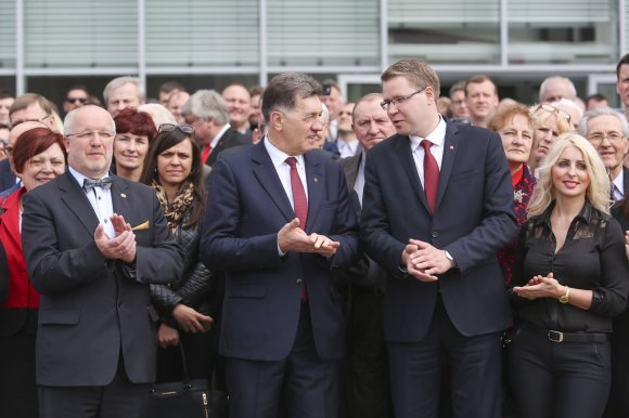 Irmanto Gelūno / 15min nuotr./Juozas Olekas, Algirdas Butkevičius ir Justas Pankauskas