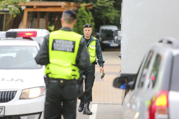Irmanto Gelūno / 15min nuotr./Palangoje pastebimai aktyviau dirba policija.