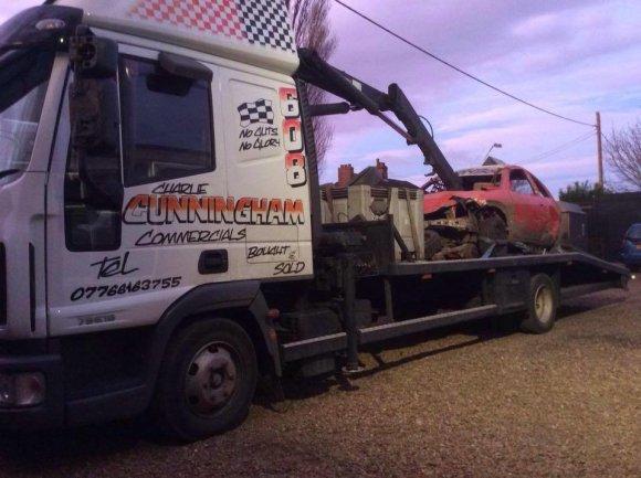 Nuotrauka iš feisbuko/Įtariamojo techninės pagalbos sunkvežimis