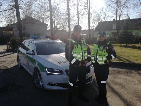 Policijos nuotr./Vilija Luckutė ir Dovydas Venckauskas