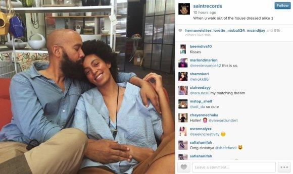 Nuotrauka iš Solange Knowles Instagram paskyros