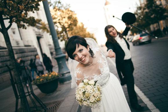 """Goodlife Photogrphy"" nuotr./Vestuvinės fotosesijos akimirka"