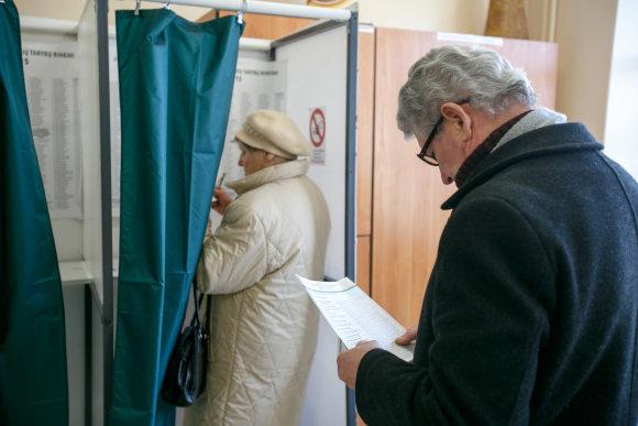 Eriko Ovčarenko/15min.lt nuotr./Rinkimų naktis Kaune