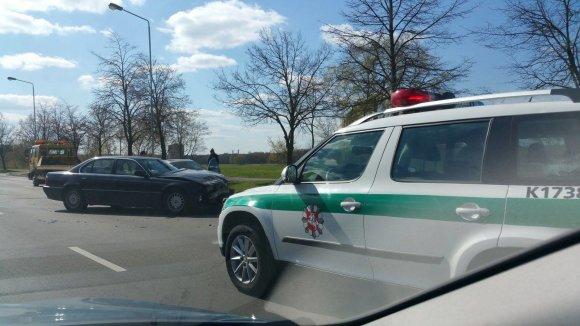 Skaitytojo nuotr./BMW avarija Kaune