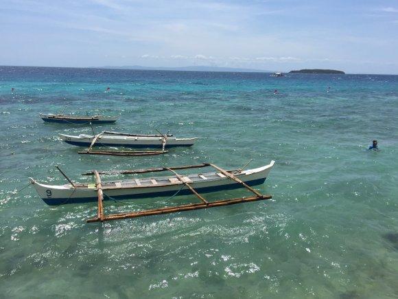 Asmeninio albumo nuotr./Tokiais laiveliais plaukiama stebėti bangininių ryklių visai netoliese - vos už 30 metrų nuo kranto.