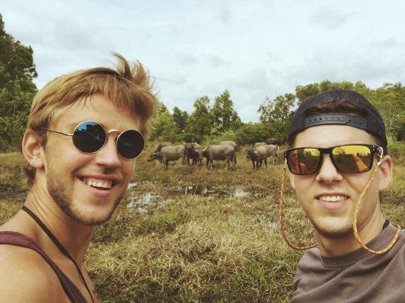 Marius Lucka su kelionės draugu Edvinu