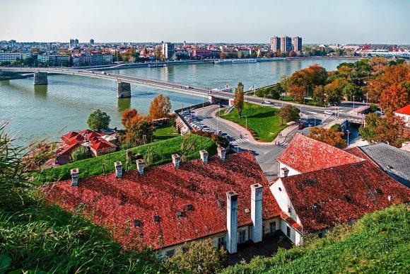 123rf.com nuotr./Raudonų stogų miestas Novi Sadas Serbijoje