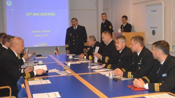 KJP nuotr./Klaipėdoje susitiko trijų Baltijos valstybių Karinių jūrų pajėgų vadai.