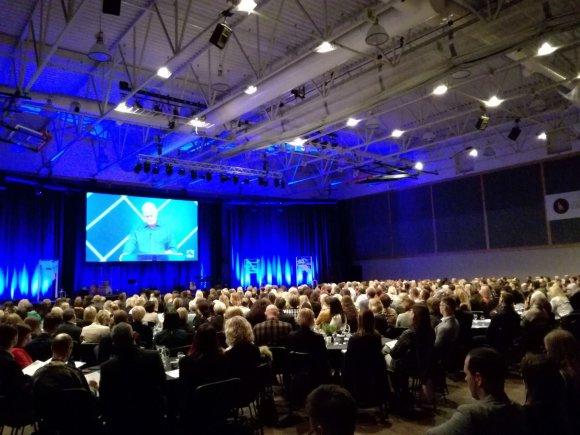 15min.lt nuotr./Pasaulinė lyderystės konferencija Klaipėdoje sutraukė pilną salę klausytojų.