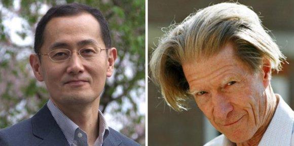 Nobelprize.org nuotr./Nobelio medicinos premija skirta japonui Shinyai Yamanakai (k.) ir britui Johnui Gurdonui.