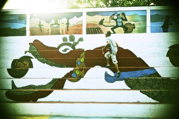 Asmeninio albumo nuotr./Lino Adomaičio kelionių dienoraštis iš Nikaragvos
