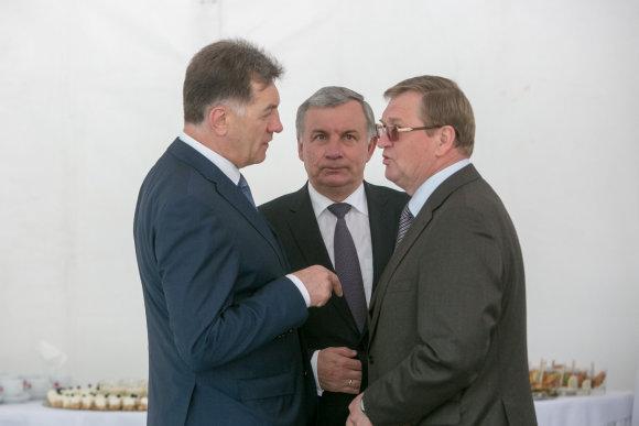 Juliaus Kalinsko / 15min nuotr./Iš kairės: Algirdas Butkevičius, Rimantas Sinkevičius, Stasys Dailydka