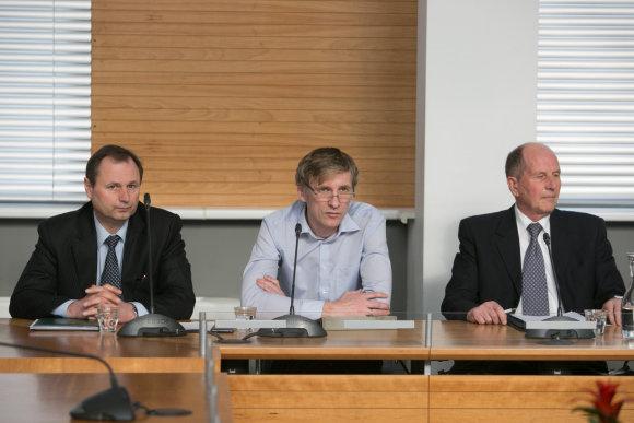 Juliaus Kalinsko/15min.lt nuotr./Iš kairės: Kęstutis Karosas, Martynas Nagevičius, Vidmantas Jankauskas