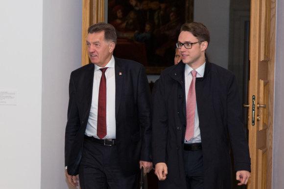 Juliaus Kalinsko / 15min nuotr./Algirdas Butkevičius ir Mindaugas Janulionis