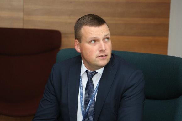 Juliaus Kalinsko/15min.lt nuotr./Vilniaus oro uosto direktorius Artūras Stankevičius