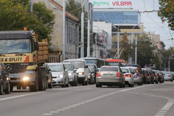 Vilniaus Naujamiestyje transporto spūstys