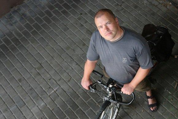 Irmanto Gelūno / 15min nuotr./Anot E.Kriščiūno, Vilniuje dviračių takus projektuoja ir projektus įgyvendina žmonės, kurie patys nevažinėja dviračiais.