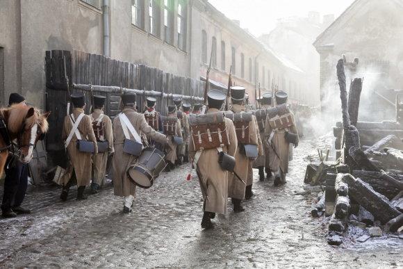 """Vilnius.lt nuotr./""""Karas ir taika"""" filmavimo akimirka"""