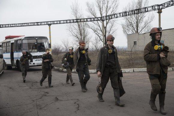 """""""Reuters""""/""""Scanpix"""" nuotr./Ukrainos anglių kasyklą sudrebino sprogimas"""