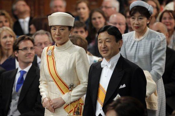 """AFP/""""Scanpix"""" nuotr./Japonijos princas Naruhito ir princesė Masako"""