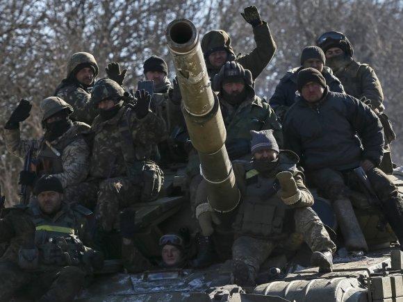 """Reuters""/""Scanpix"" nuotr./Ukrainos kariai palieka Debalcevę"