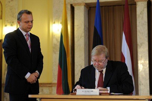 Alfredo Pliadžio nuotr./Estijos gynybos ministras Martas Laaras