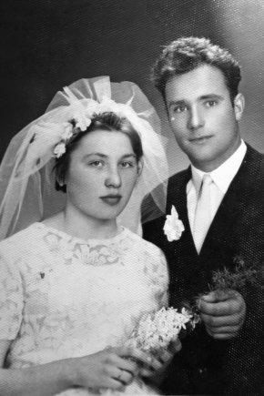 Asmeninio archyvo nuotr./Janinos ir Leono vestuvių akimirka