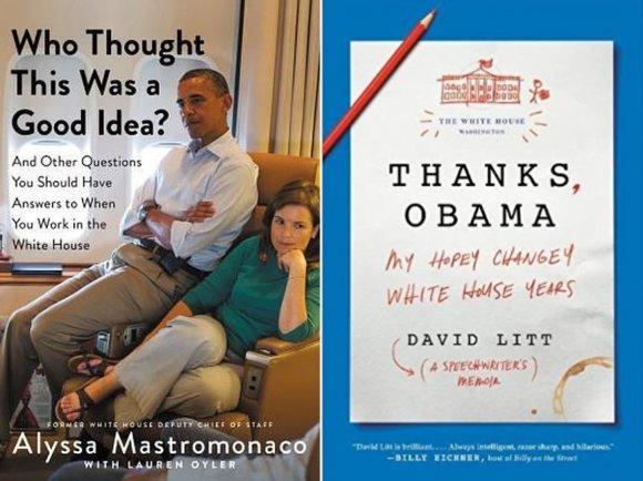Knygų viršeliai/Buvę Baltųjų rūmų darbuotojai išleis ne vieną knygą apie buvusį darbą