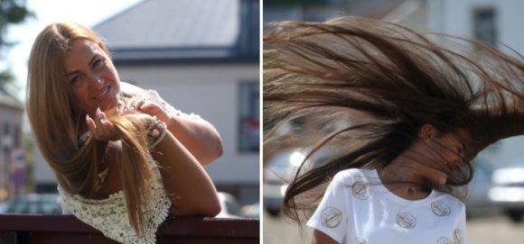 Algimanto Barzdžiaus nuotr./Kėdainietės Orinta Markauskienė ir Austėja Markauskaitė tikina, kad ilgi plaukai suteikia daugiau džiaugsmo