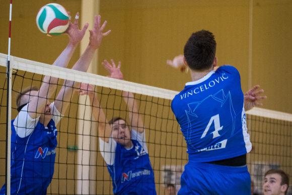 """Alfredo Pliadžio nuotr./""""Vilniaus kolegijos-Flamingo Volley"""" – Raseinių """"Norvelita"""""""