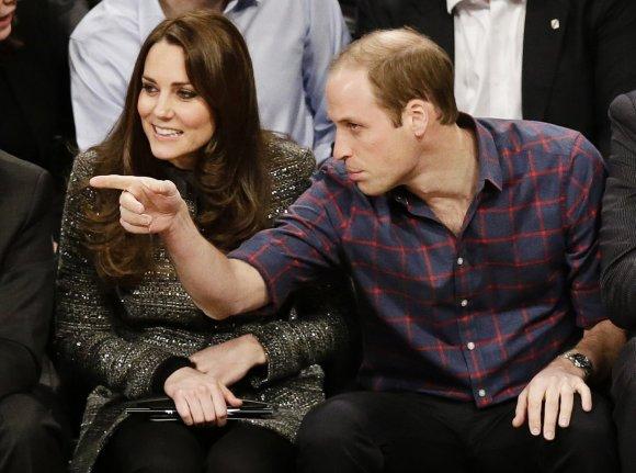 """""""Scanpix""""/AP nuotr./Kembridžo hercogienė Catherine ir princas Williamas"""