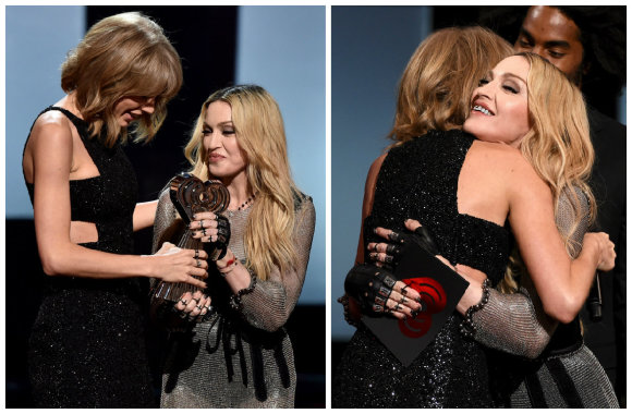 "AFP/""Scanpix"" nuotr./Madonna ir Taylor Swift"