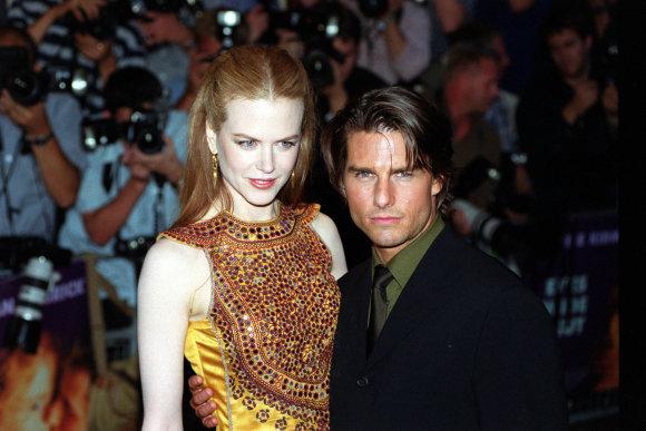 Vida Press nuotr./Tomas Cruise'as ir Nicole Kidman (1999 m.)
