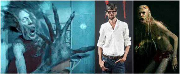 """Javieras Botetas realybėje bei filmuose """"Mama"""" (kairėje) ir """"Įrašas"""" (dešinėje)"""