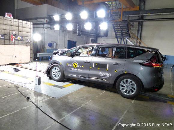 """""""EuroNCAP"""" nuotr./""""Renault Espace"""" """"EuroNCAP"""" saugumo bandymuose"""