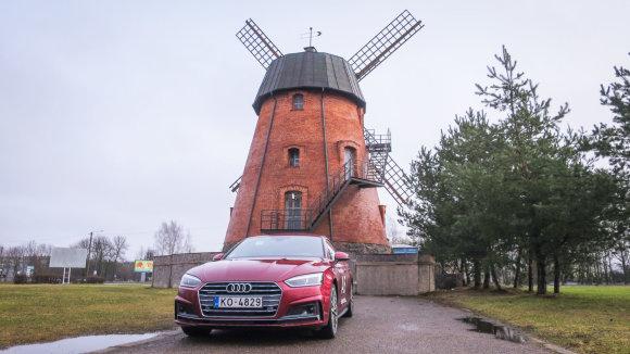 """""""Audi A5 Sportback"""" ir Panevėžio malūnas"""