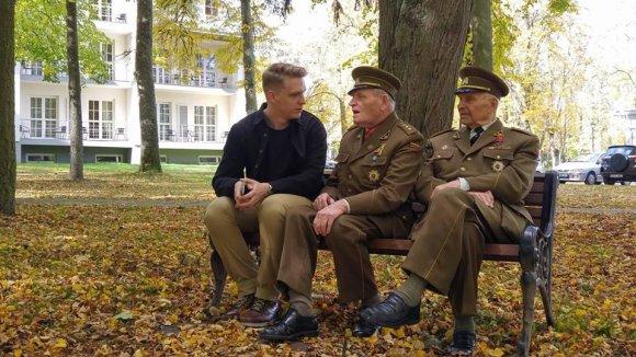 Daumanto Liekio nuotr./Pokalbis su partizanais
