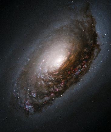 """Nasa.com nuotr./Juodosios Akies galaktika per kosminį """"Hubble"""" teleskopą"""