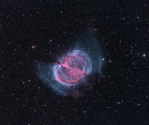Nuotr. iš Hubble.com/Nr.15. Kur kas įspūdingiau Hantelio ūkas atrodo kosminio Hubble teleskopo nuotraukose